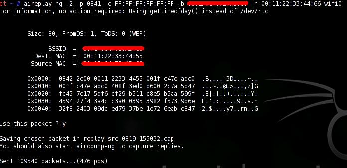 Die -n 128 bezeichnen den 128-bit WEP Schlussel. Falls.